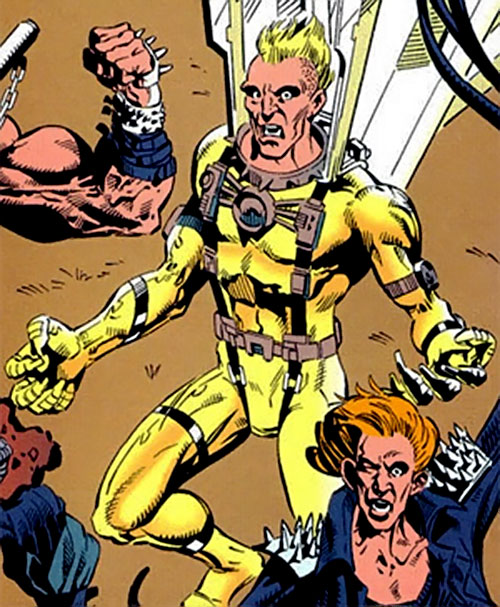 Golden Eagle of the Cadre / Aryan Brigade (JLA enemy) (DC Comics) and Backlash