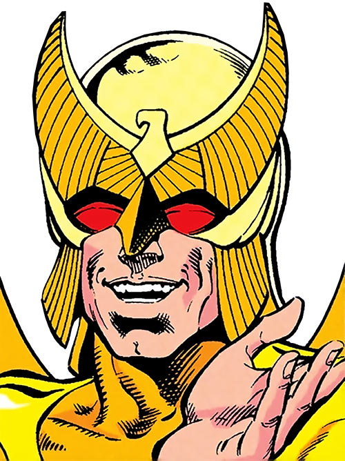 Golden Eagle (DC Comics) (Titans West) (Charley Parker) mask details