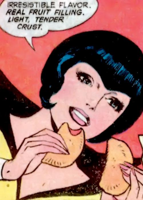 Golden Raven (Hostess Comics) face closeup