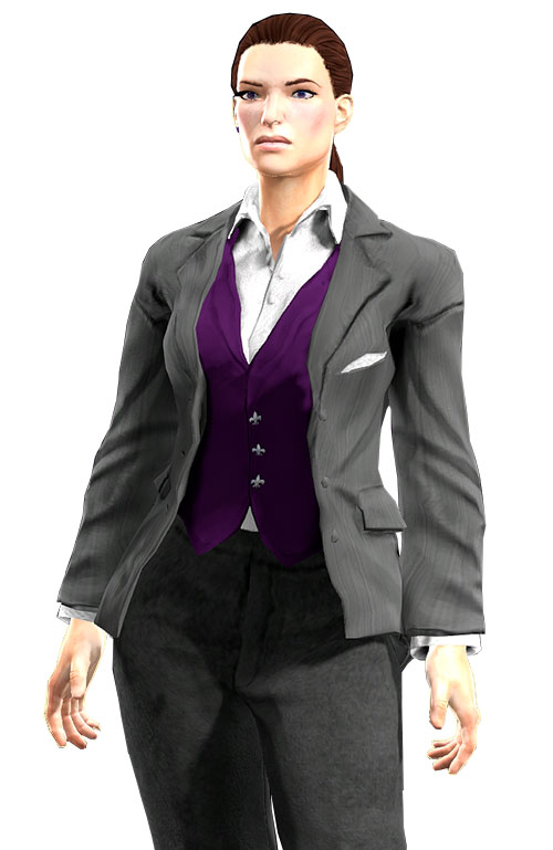 Gom Jabbar (DC Heroes RPG) light grey business suit, front view