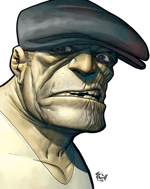 The Goon (Eric Powell / Dark Horse comics) closeup