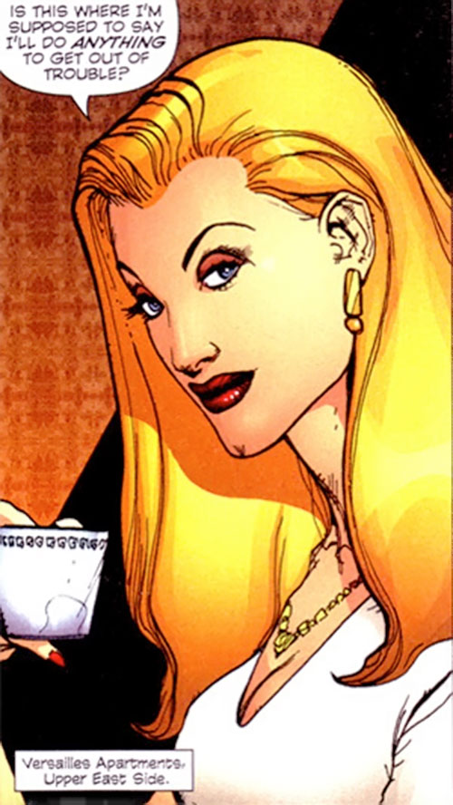 Gorgeous of Stormwatch PHD (Wildstorm Comics) face closeup with tea cup