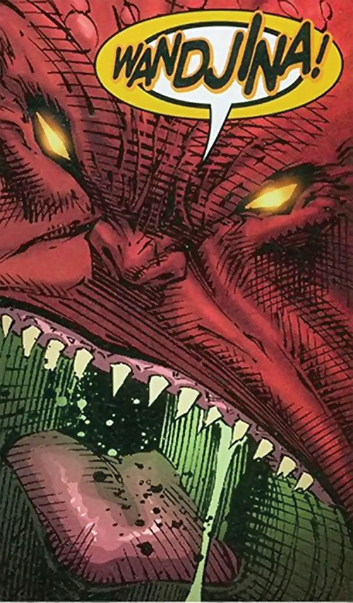Gorgon of the Extremists (DC Comics) yelling monster face