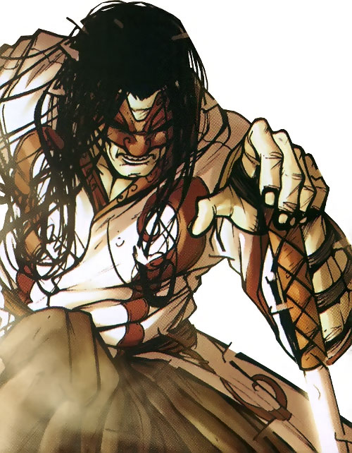 Gorgon (Wolverine / Secret Warriors enemy) (Marvel Comics) (Shishido) ready for battle