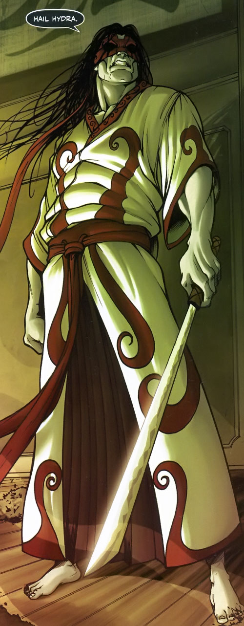 Gorgon (Wolverine / Secret Warriors enemy) (Marvel Comics) (Shishido) in a Japanese robe