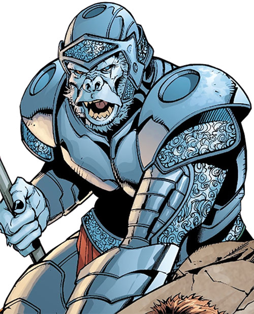 Gorilla Knights (Wonder Woman allies) (DC Comics) in armor