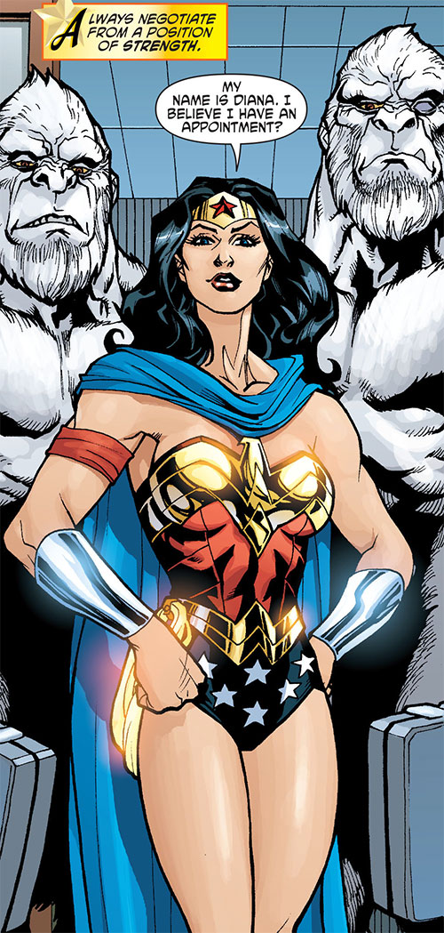 Gorilla Knights (Wonder Woman allies) (DC Comics) escorting Diana