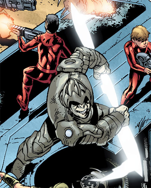 Gorilla Knights (Wonder Woman allies) (DC Comics) fighting with a force staff