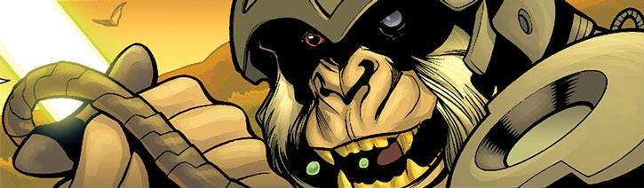 Gorilla Knight face closeup