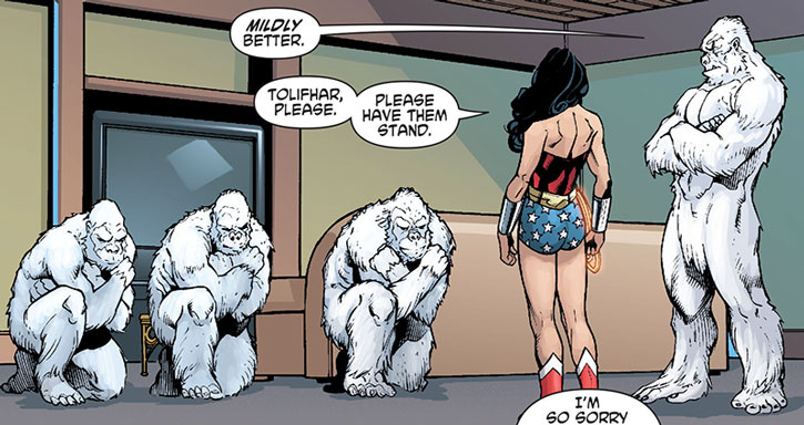 The Gorilla Knights salute Wonder Woman
