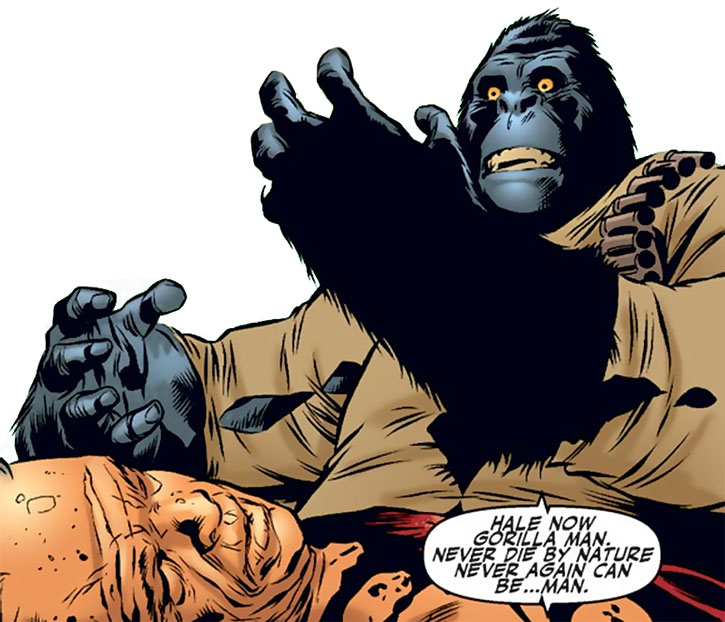 Gorilla-Man (Ken Hale) gets cursed
