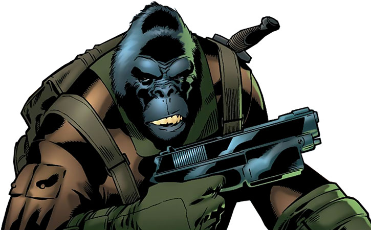 Gorilla-Man (Ken Hale) ready for combat