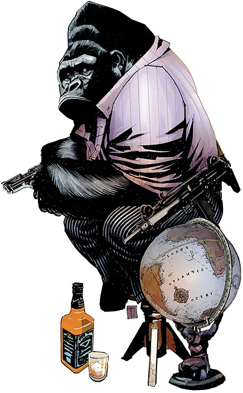 Gorilla-Man of the Agents of Atlas (Marvel Comics) with accessories