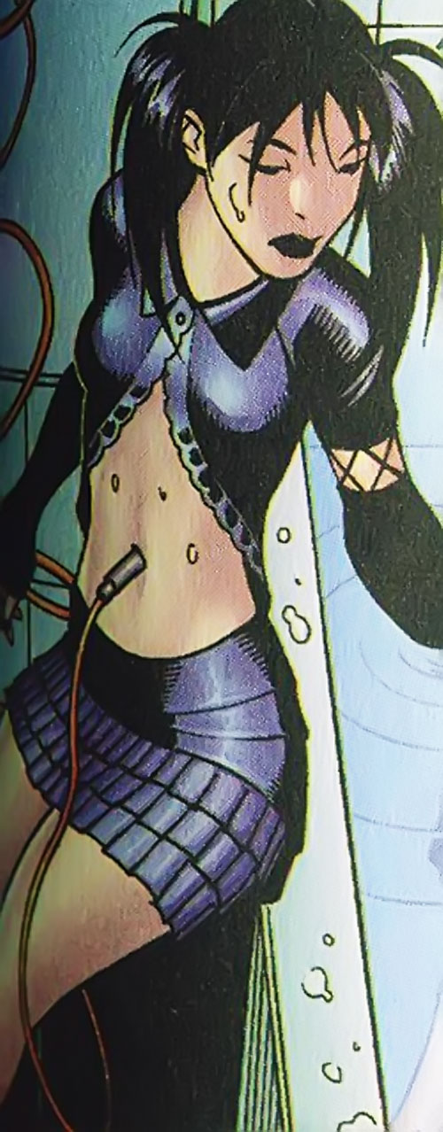 Gothic Lolita of the Livewires (Marvel Comics) in black clubwear