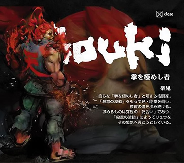 Gouki character details