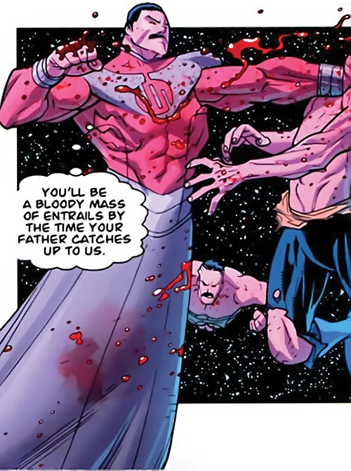 Grand Regent Thragg (Invincible Comics) fighting in space