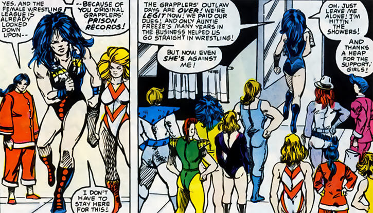 Grapplers - Marvel Comics - New Grapplers as Titania leaves