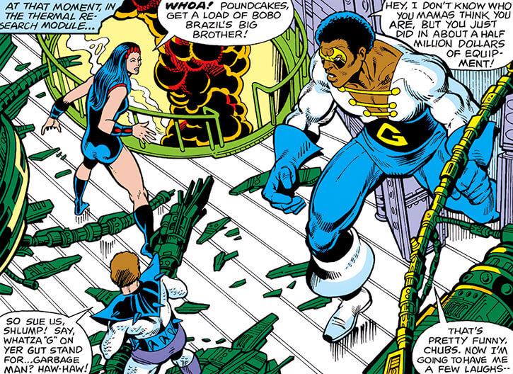 Grapplers - Marvel Comics - Titania and Poundcakes vs Black Goliath