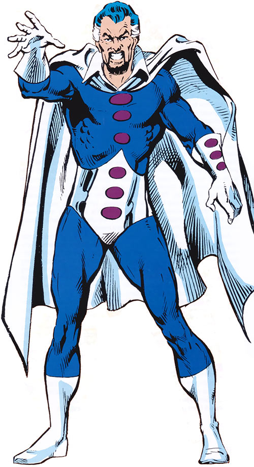 Graviton (Franklin Hall) with the blue and white costume