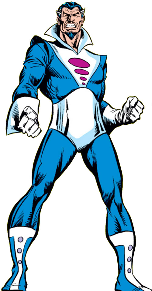 Graviton (Franklin Hall) in his cape-less costume