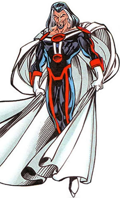 Graviton (Franklin Hall) in the black, red and white costume