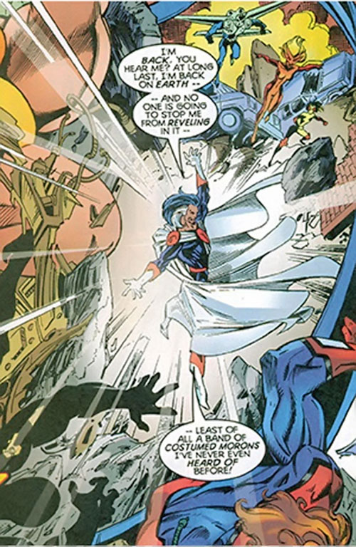 Graviton (Franklin Hall) vs. the Thunderbolts and Great Lakes Avengers