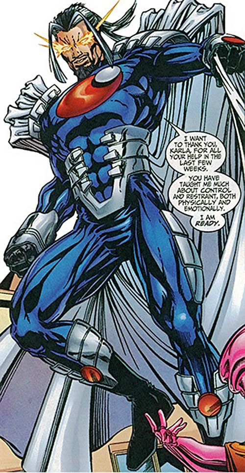 Graviton (Franklin Hall) with the armored costume