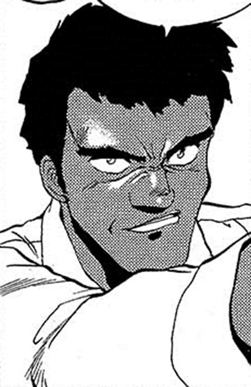 Gray (Gunsmith Cats manga) face closeup