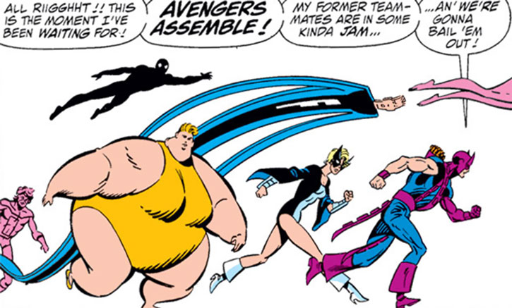 The Great Lakes Avengers with Hawkeye and Mockingbird