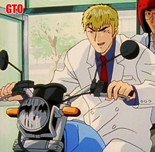 Great Teacher Onizuka on a motorbike