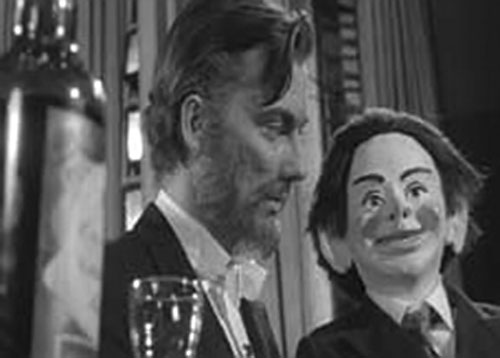 The Great Vorelli (Bryant Haliday in Devil Doll) and Hugo the dummy