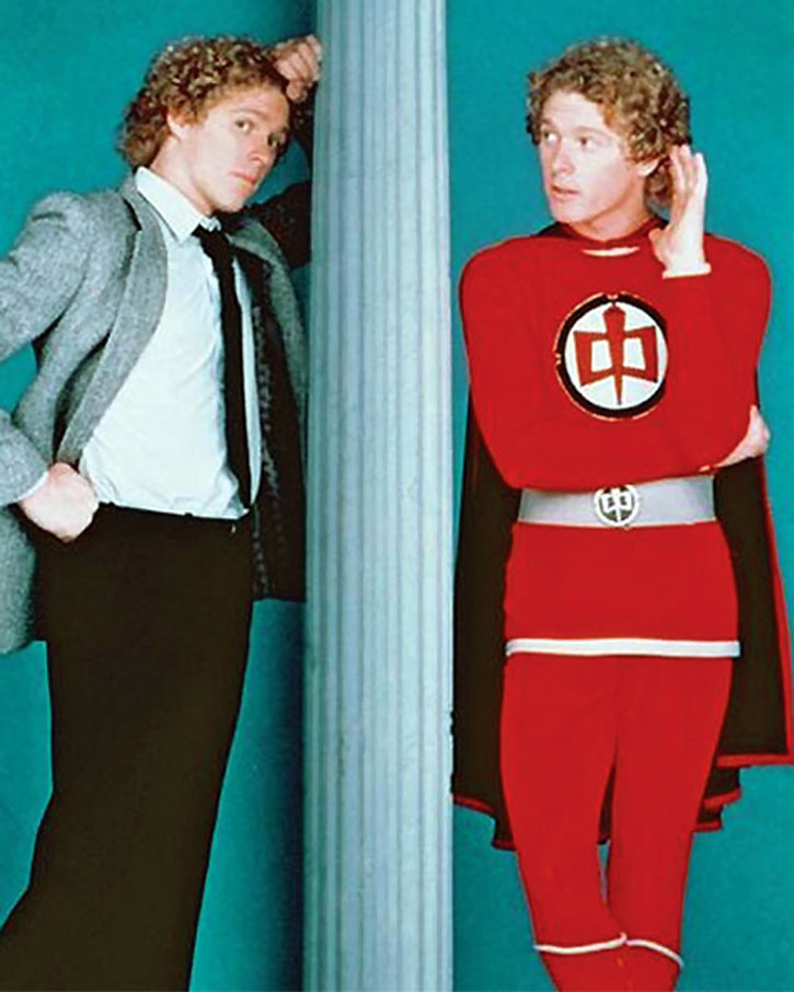 The Greatest American Hero (William Katt) in and out of costume