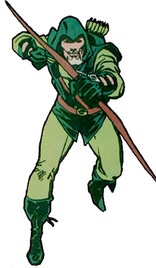 Green Arrow (DC Comics) with bow ready