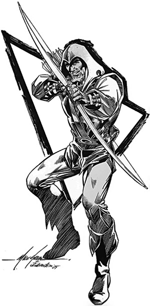 Green Arrow (DC Comics) by Mike Grell, black and white art