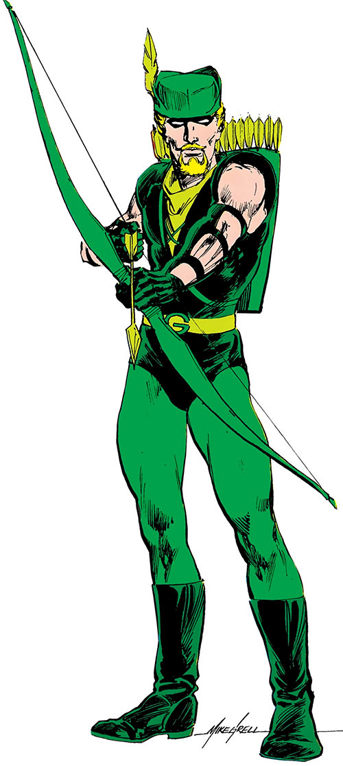 Green Arrow (DC Comics) by Mike Grell in the 1985 Who's Who