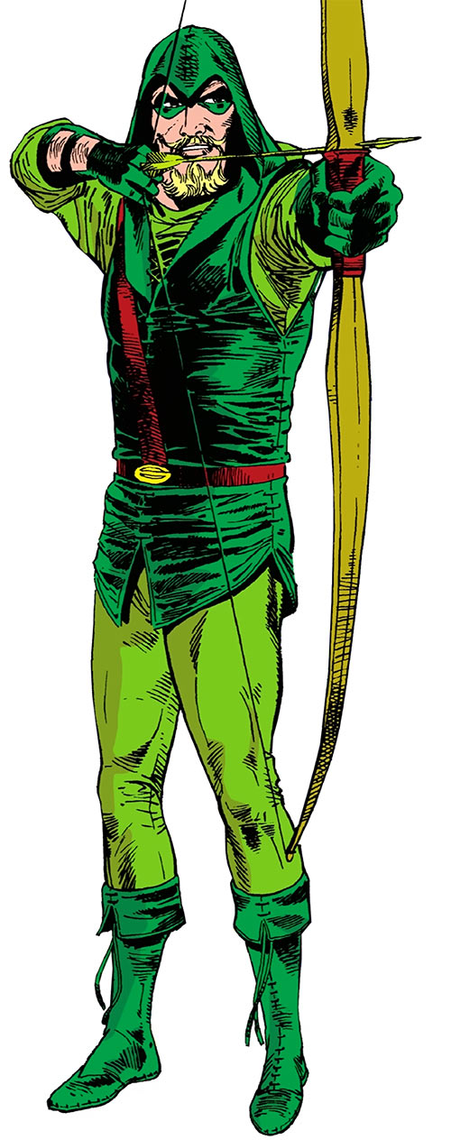 Green Arrow (DC Comics) from the 1988 Who's Who Update by Hannigan and Giordano