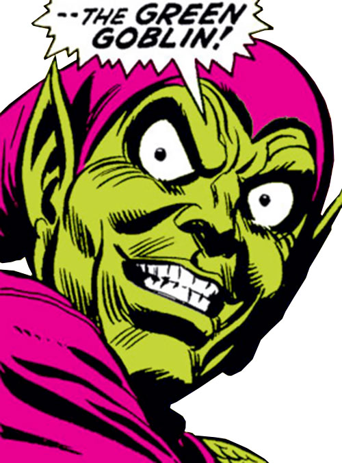 Green Goblin (Norman Osborn) (Marvel Comics) classic mask closeup