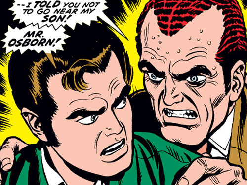 Classic Norman Osborn and Peter Parker shot