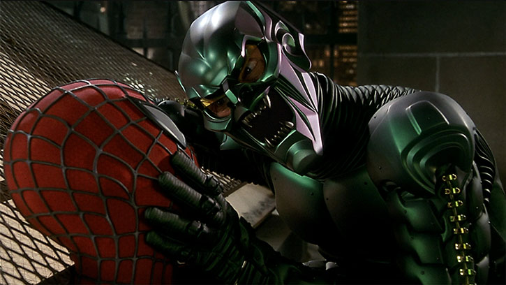 The Green Goblin (Willem Dafoe) vs. Spider-Man