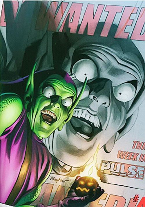Green Goblin (Norman Osborn) (Marvel Comics) looking crazy