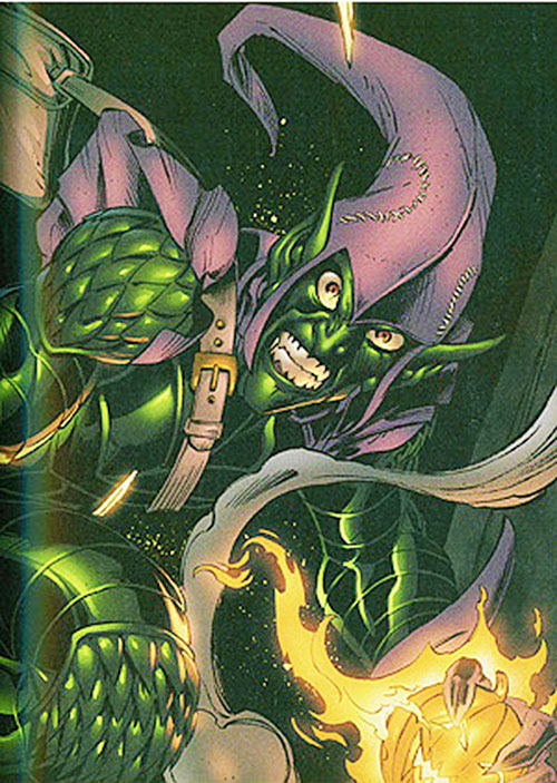 Green Goblin (Norman Osborn) (Marvel Comics) looking demented