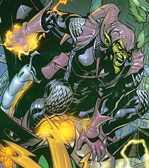 Green Goblin (Norman Osborn) (Marvel Comics) with the black and purple costume