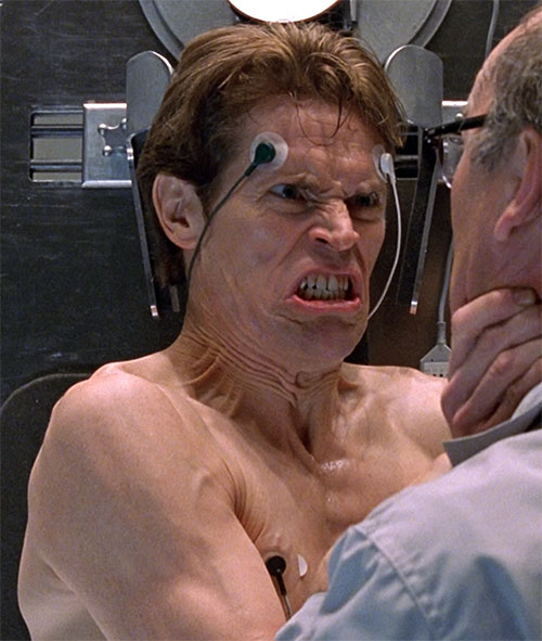 Green Goblin (Willem Dafoe in the Spider-Man movie) as a test subject