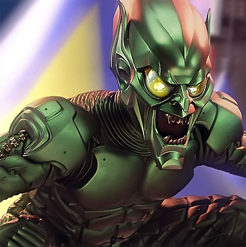 Green Goblin (Willem Dafoe in the Spider-Man movie) armor closeup