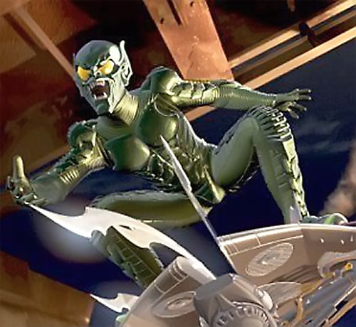 Green Goblin (Willem Dafoe in the Spider-Man movie)'s glider with its blades out
