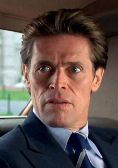 Green Goblin (Willem Dafoe in the Spider-Man movie) taken aback