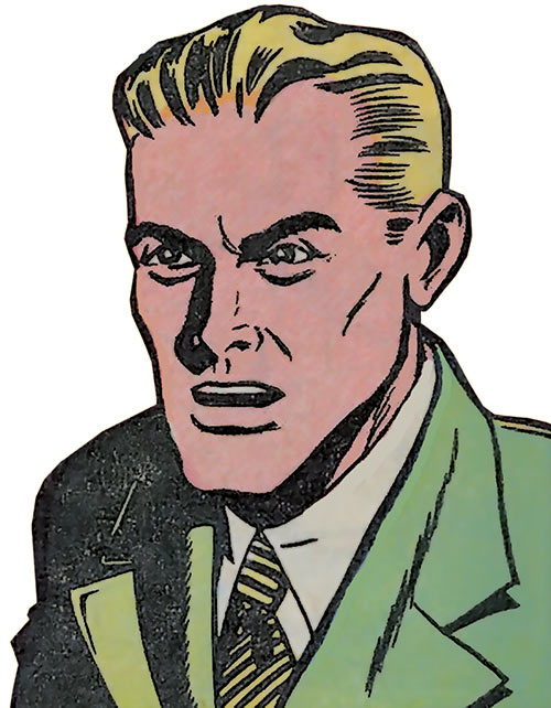 Green Lantern Alan Scott (DC Comics) 1947 portrait no costume