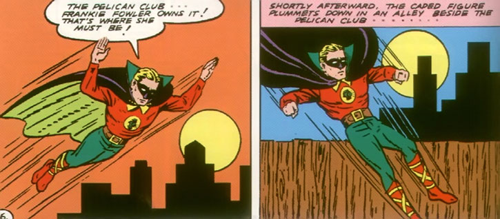 The Green Lantern (Alan Scott) investigates during the 1940s