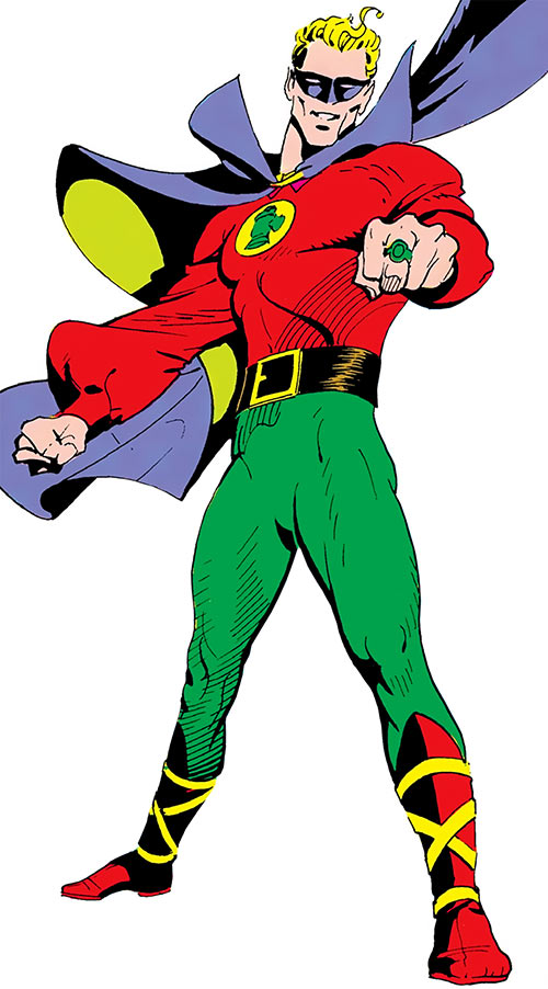 Green Lantern (Alan Scott) (DC Comics) pointing his ring