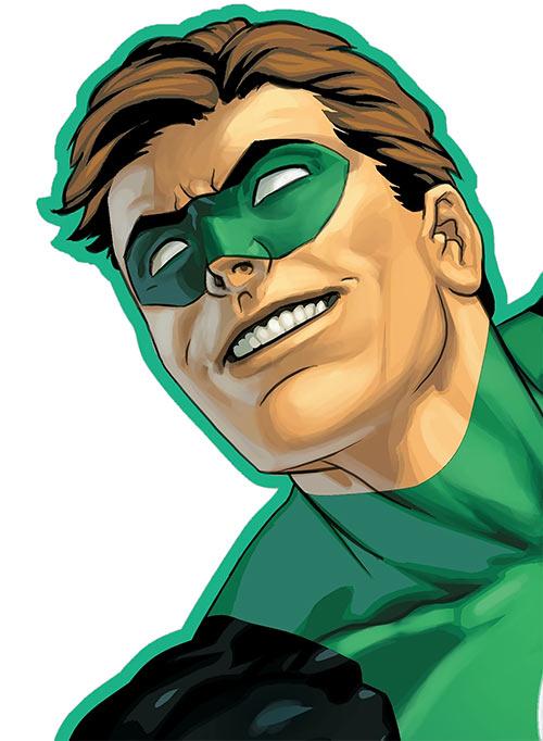 Green Lantern Hal Jordan (DC Comics) portrait closeup by Ivan Reiss